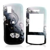 LG Shine II GD710 Hard Case - White Butterflies on Baby Blue