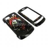 LG Xenon GR500 Hard Case - Flaming Music Skull on Black