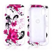 LG Arena GT950 Hard Case - Pink Flowers on White