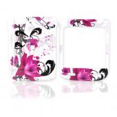 LG Lotus Elite LX610 Hard Case - Pink Flowers on White