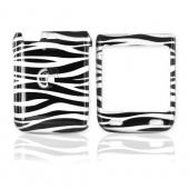 LG Lotus Elite LX610 Hard Case - Black/Silver Zebra