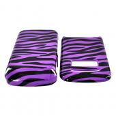 Motorola i410 Hard Case - Purple/Black Zebra