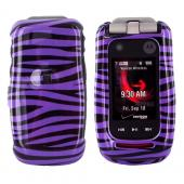 Motorola Barrage & Quantico Hard Case - Purple/Black Zebra