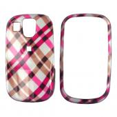 Samsung Flight A797 Hard Case - Checkered Diamonds of Pink, Brown, and Silver