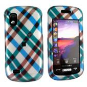 Samsung Solstice A887 Hard Case - Checkered Plaid of Blue, Green, Brown, Silver
