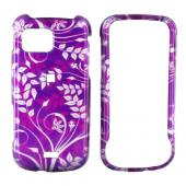 Samsung Mythic A897 Hard Case - Floral Design on Purple