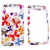 Samsung Code i220 Hard Case - Colorful Butterflies on White