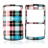 Samsung Intrepid i350 Hard Case - Plaid Pattern of Blue, Brown, Green