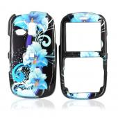 Samsung FreeForm R350 Hard Case - Blue Flowers on Black