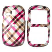 Samsung Freeform R350/R351 Hard Case - Checkered Diamonds of Pink, Hot Pink, Brown, and Grey