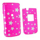 Samsung MyShot 2 R460 Hard Case - Silver Stars on Pink
