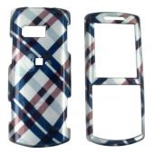 Samsung Messager II R560 Hard Case - Checkered Diamond of Navy Blue, Brown, and Silver