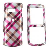 Samsung Messager II R560 Hard Case - Checkered Diamond of Pink, Brown, and Silver