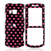 Samsung Messager II R560 Hard Case - Pink Polka Dots on Black