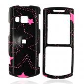 Samsung Vice R560 Hard Case - Pink Stars on Black