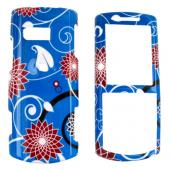 Samsung Messager II R560 Hard Case - Red Flower on Blue