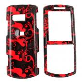 Samsung Messager II R560 Hard Case - Red Swirls on Black