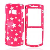 Samsung Messager II R560 Hard Case - Silver Stars on Pink