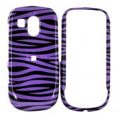 Samsung R860 Hard Case - Purple/Black Zebra