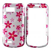 Samsung Behold 2 T939 Hard Case - Pink Flowers on Pink
