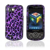 Samsung Behold 2 T939 Hard Case - Purple/Black Leopard Print on Purple