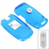 Samsung U410 Hard Case - Transparent Blue