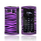 Sanyo Incognito 6760 Hard Case - Purple/Black Zebra