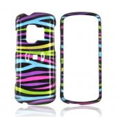 ZTE Agent E520 Hard Case - Rainbow Zebra on Black