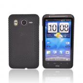 HTC Inspire 4G Rubberized Hard Back Cover Case - Mesh Black