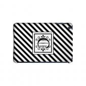 Vintage Vine C On Black Slanted Stripes - Geeks Designer Line Monogram Series Hard Case for Apple iPad Mini