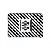Vintage Vine V On Black Slanted Stripes - Geeks Designer Line Monogram Series Hard Case for Apple iPad Mini
