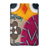 Geeks Designer Line (GDL) Slim Hard Case for Apple iPad Mini - Yellow/ Purple Owl