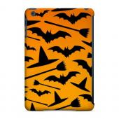 Geeks Designer Line (GDL) Slim Hard Case for Apple iPad Mini - Witch Hat/Broom/Bat on Orange