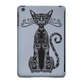 Geeks Designer Line (GDL) Slim Hard Case for Apple iPad Mini - Kitty Nouveau on Blue/ Gray