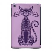 Geeks Designer Line (GDL) Slim Hard Case for Apple iPad Mini - Kitty Nouveau on Purple