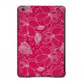 Geeks Designer Line (GDL) Slim Hard Case for Apple iPad Mini - White on Pink Orchid Lines