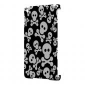 Geeks Designer Line (GDL) Slim Hard Case for Apple iPad Mini - Skull Face Invasion White on Black