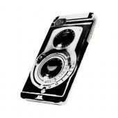 Geeks Designer Line (GDL) Retro Series Apple iPhone 4/4S Matte Hard Back Cover - Black Film Noir Camera