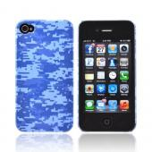 Geeks Designer Line (GDL) Apple iPhone 4/4S Matte Hard Back Cover - Blue Digital Camouflage
