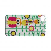 Geeks Designer Line (GDL) Owl Series Apple iPhone 4/4S Matte Hard Back Cover - Colorful Owl Tower