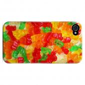 Geeks Designer Line (GDL) Apple iPhone 4/4S Slim Hard Back Cover - Multi-Colored Gummy Bears