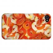 Geeks Designer Line (GDL) Apple iPhone 4/4S Slim Hard Back Cover - Orange/ White Gummy Rings
