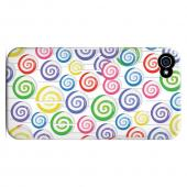 Geeks Designer Line (GDL) Apple iPhone 4/4S Slim Hard Back Cover - Assorted Lollipops