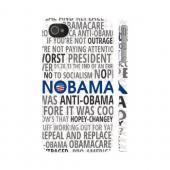 Geeks Designer Line (GDL) 2012 Election Series Apple iPhone 4/4S Matte Hard Back Cover - NOBAMA