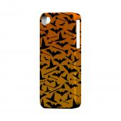 Geeks Designer Line (GDL) Apple iPhone 4/4S Matte Hard Back Cover - Witch Hat/Broom/Bat on Orange