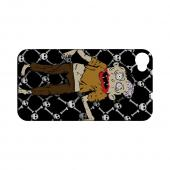Geeks Designer Line (GDL) Apple iPhone 4/4S Matte Hard Back Cover - Zombie w/ Skull & Crossbones