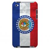 Grunge Missouri - Geeks Designer Line Flag Series Hard Case for Apple iPod Touch 4