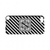 Vintage Vine Z On Black Slanted Stripes - Geeks Designer Line Monogram Series Hard Case for Apple iPod Touch 5