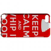 Geeks Designer Line (GDL) Slim Hard Case for Apple iPod Touch 5 - Red Whip It Good