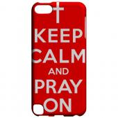 Geeks Designer Line (GDL) Slim Hard Case for Apple iPod Touch 5 - Red Pray On